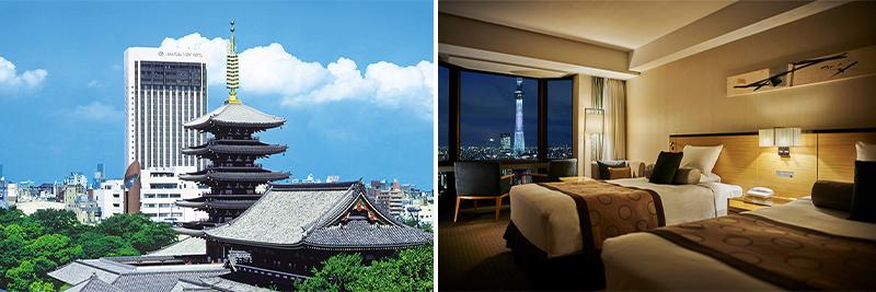 浅草ビューホテルの外観と客室イメージ