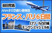 ANA直行便羽田発フランス6日間